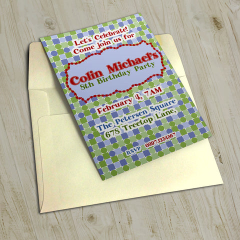 "5""x7"" Birthday Invitation BI-26"