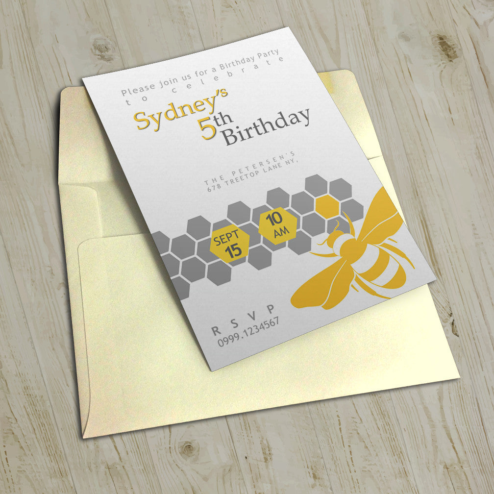 "5""x7"" Birthday Invitation BI-25"