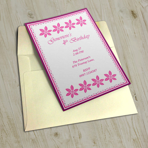 "5""x7"" Birthday Invitation BI-24"