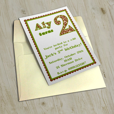 "5""x7"" Birthday Invitation BI-23"