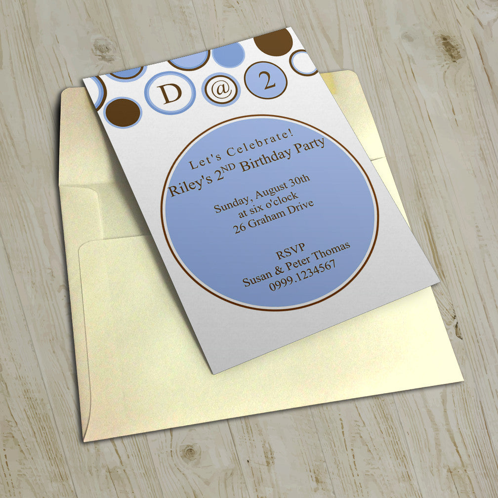 "5""x7"" Birthday Invitation BI-21"