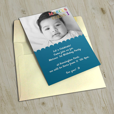 "5""x7"" Birthday Invitation BI-20"