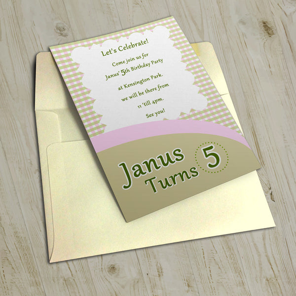 "5""x7"" Birthday Invitation BI-19"