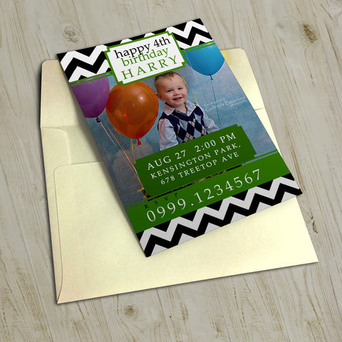 "5""x7"" Birthday Invitation BI-29"
