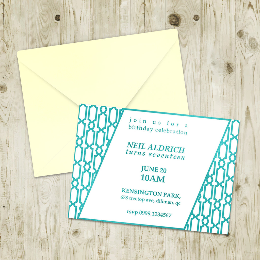"5""x7"" Birthday Invitation BI-14"