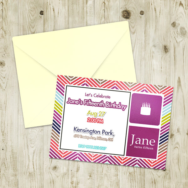 "5""x7"" Birthday Invitation BI-07"