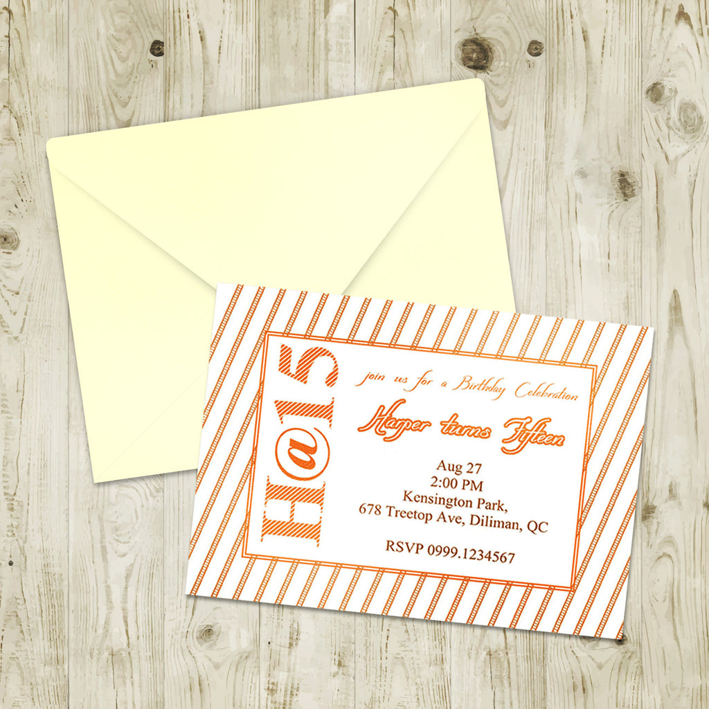 "5""x7"" Birthday Invitation BI-08"