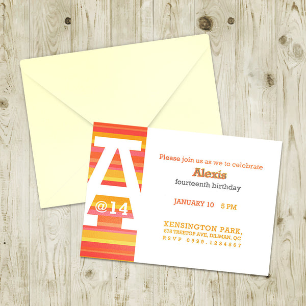 "5""x7"" Birthday Invitation BI-09"