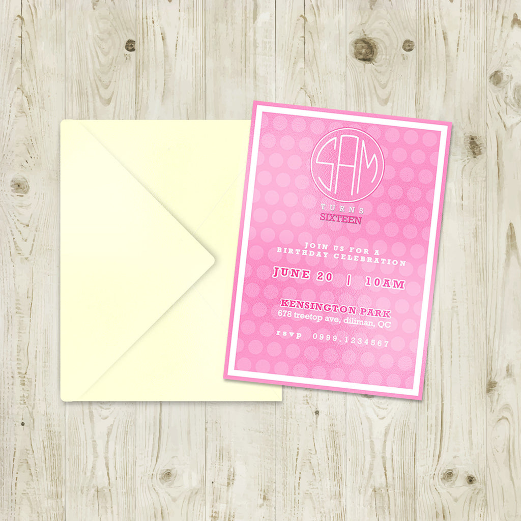 "5""x7"" Birthday Invitation BI-17"