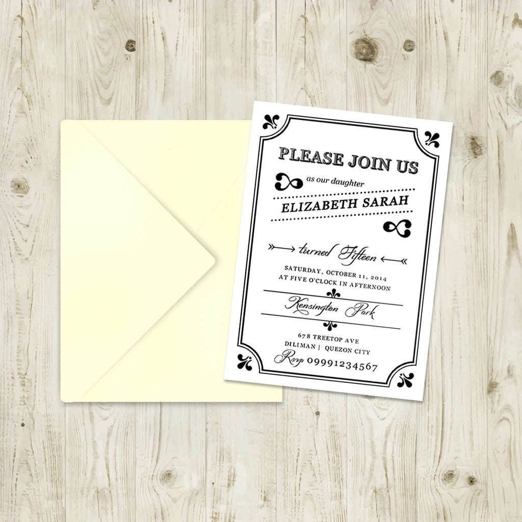"5""x7"" Birthday Invitation BI-02"