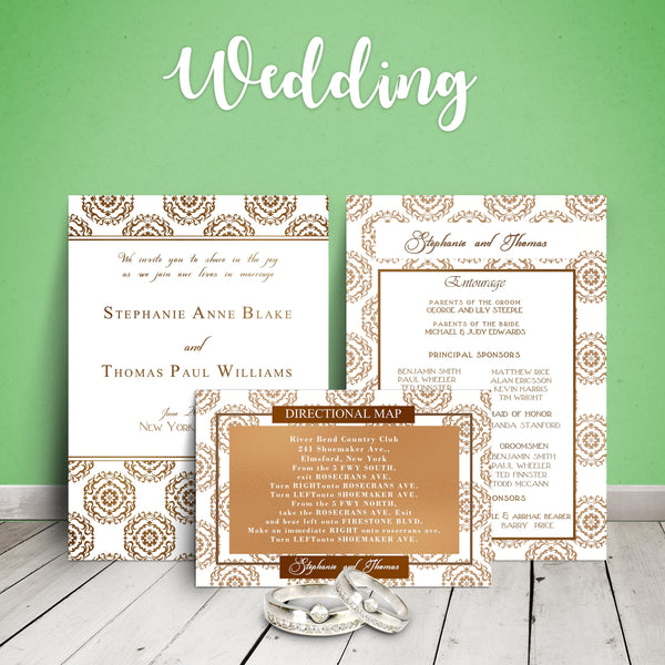 "5""x7"" Wedding Invitation WI-11"