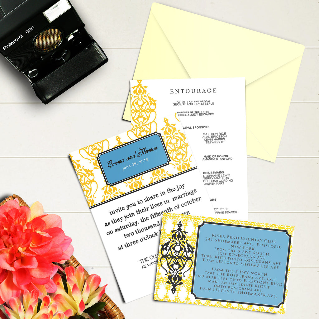 "5""x7"" Wedding Invitation WI-03"