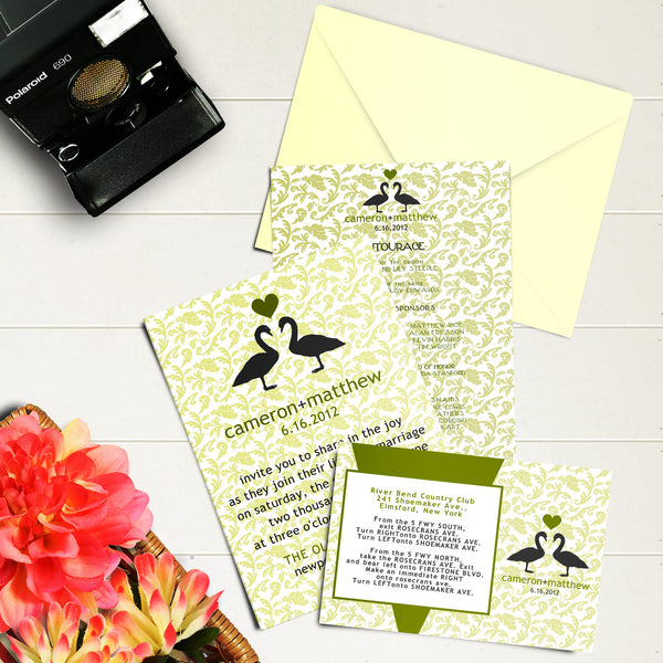 "5""x7"" Wedding Invitation WI-09"