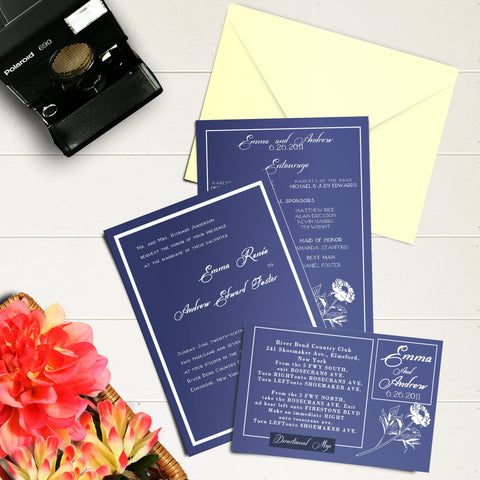 "5""x7"" Wedding Invitation WI-12"