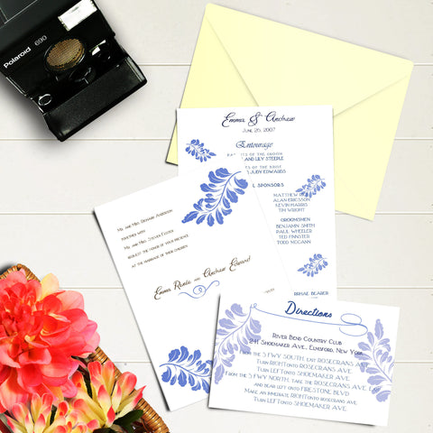 "5""x7"" Wedding Invitation WI-13"