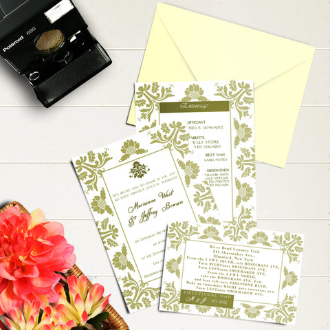 "5""x7"" Wedding Invitation WI-14"