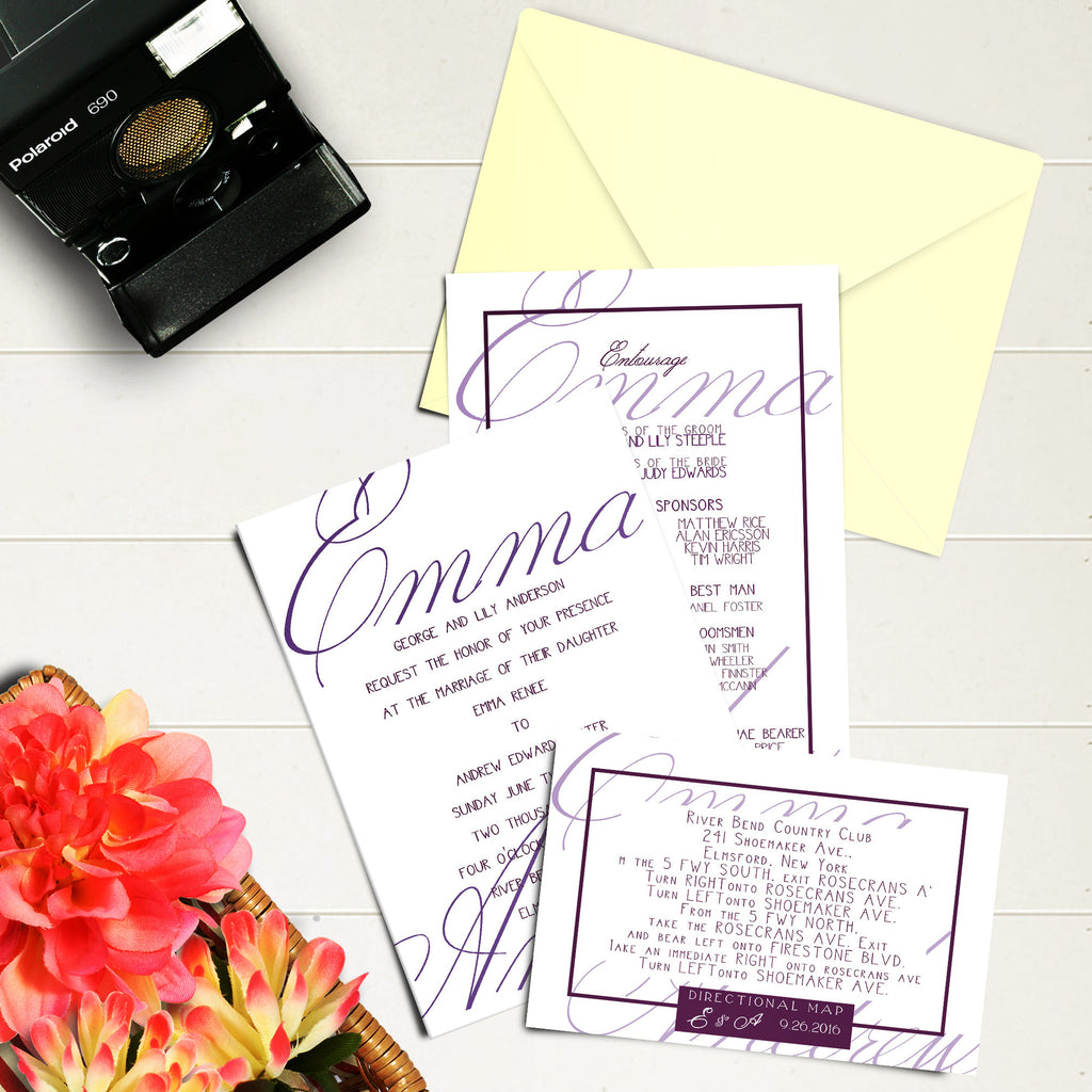 "5""x7"" Wedding Invitation WI-15"