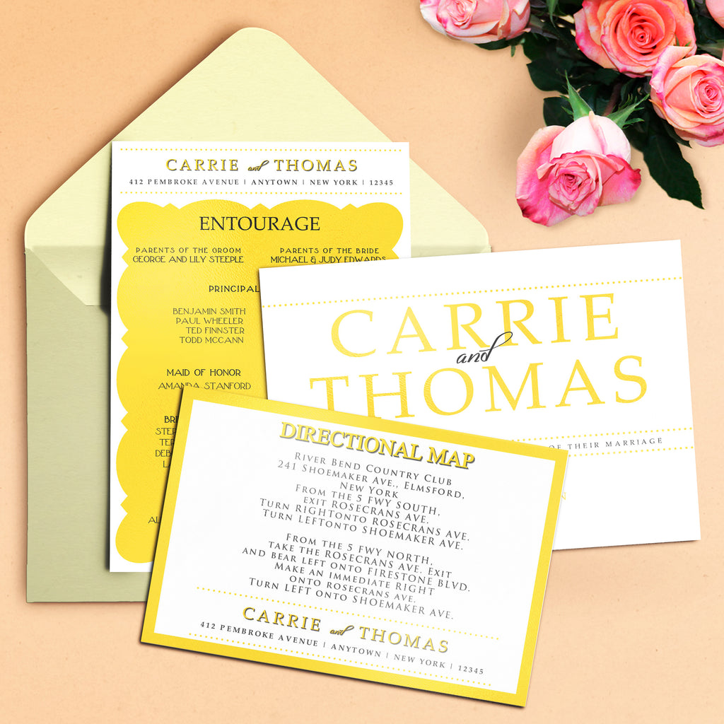 "5""x7"" Wedding Invitation WI-16"