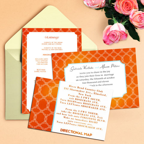 "5""x7"" Wedding Invitation WI-17"