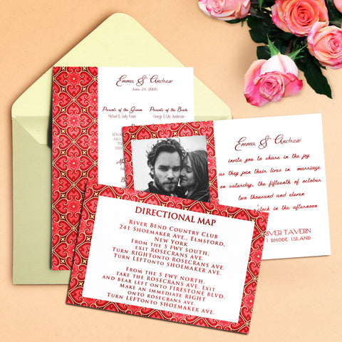 "5""x7"" Wedding Invitation WI-18"