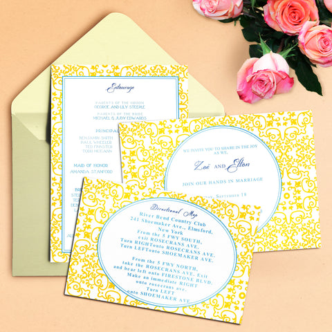 "5""x7"" Wedding Invitation WI-19"