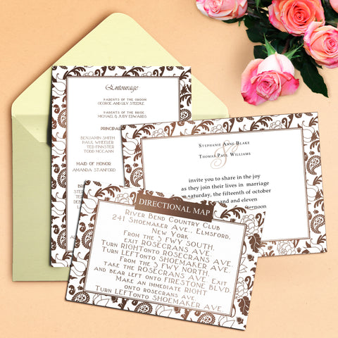"5""x7"" Wedding Invitation WI-20"