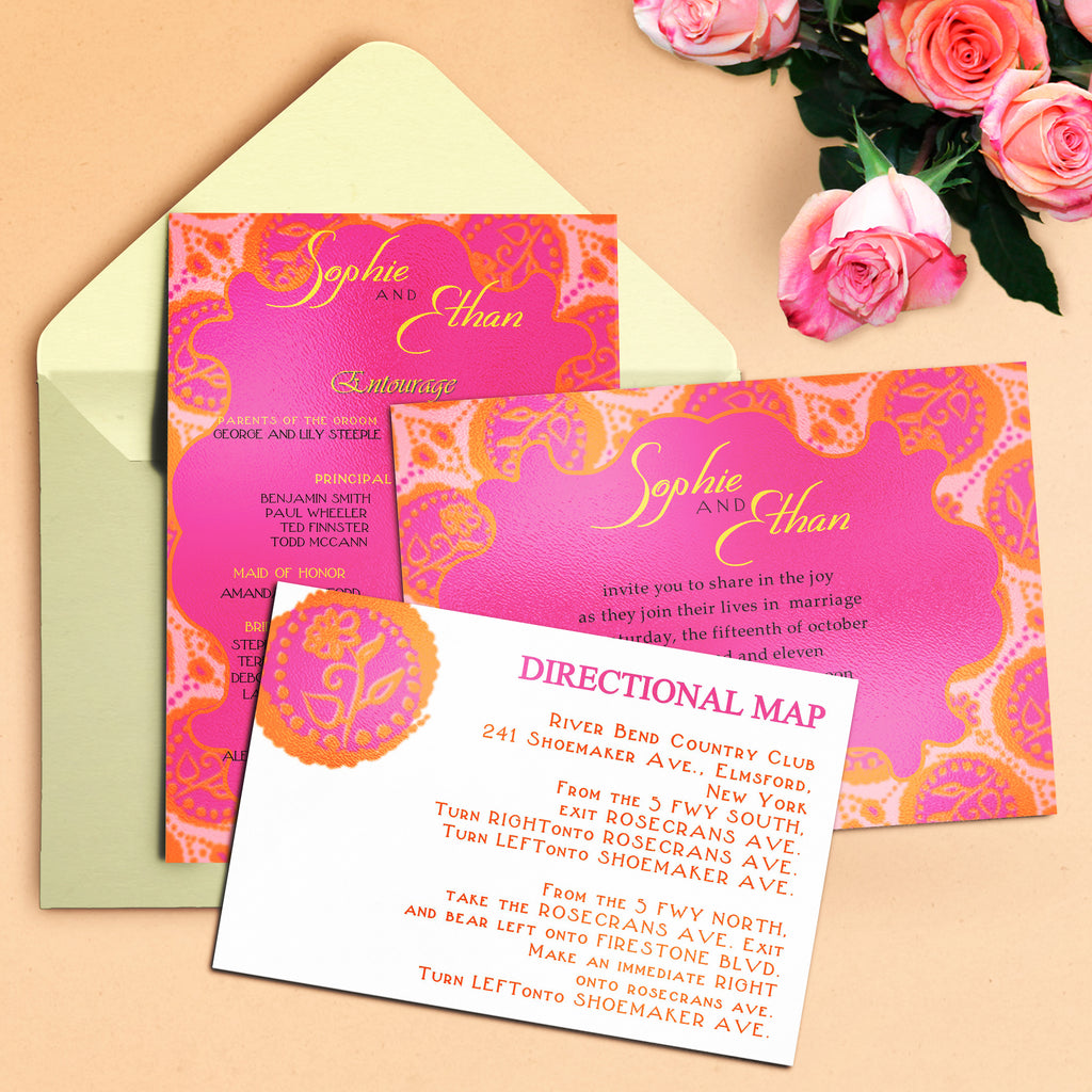 "5""x7"" Wedding Invitation WI-21"