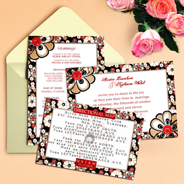 "5""x7"" Wedding Invitation WI-22"