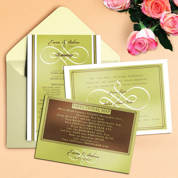 "5""x7"" Wedding Invitation WI-23"