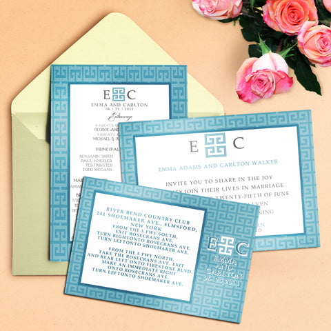 "5""x7"" Wedding Invitation WI-24"