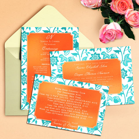 "5""x7"" Wedding Invitation WI-25"