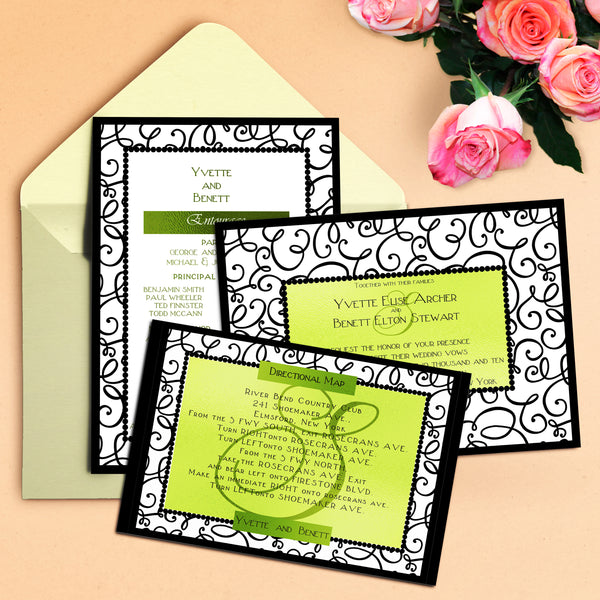 "5""x7"" Wedding Invitation WI-26"