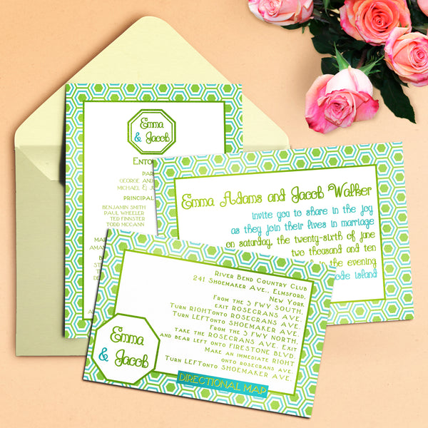 "5""x7"" Wedding Invitation WI-28"