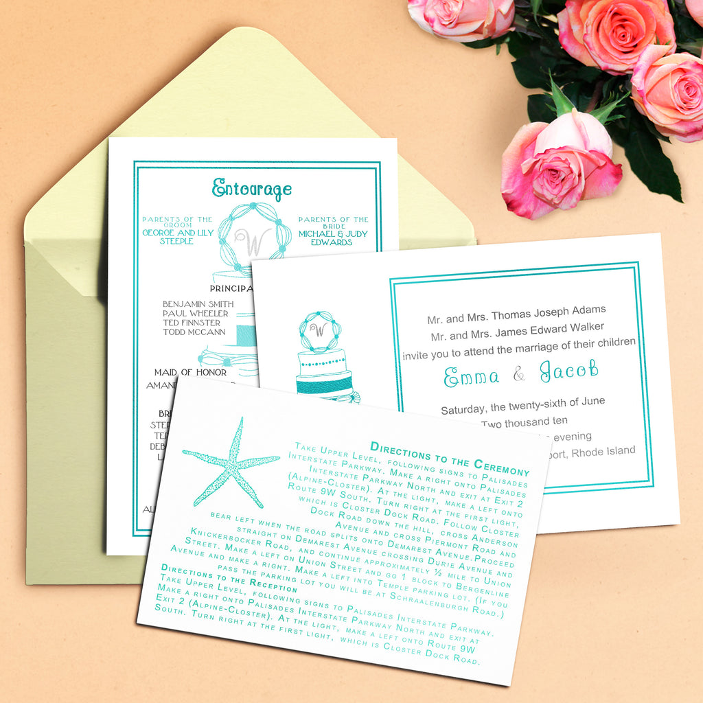 "5""x7"" Wedding Invitation WI-30"