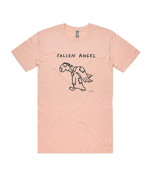 Fallen Angel - pale pink tee