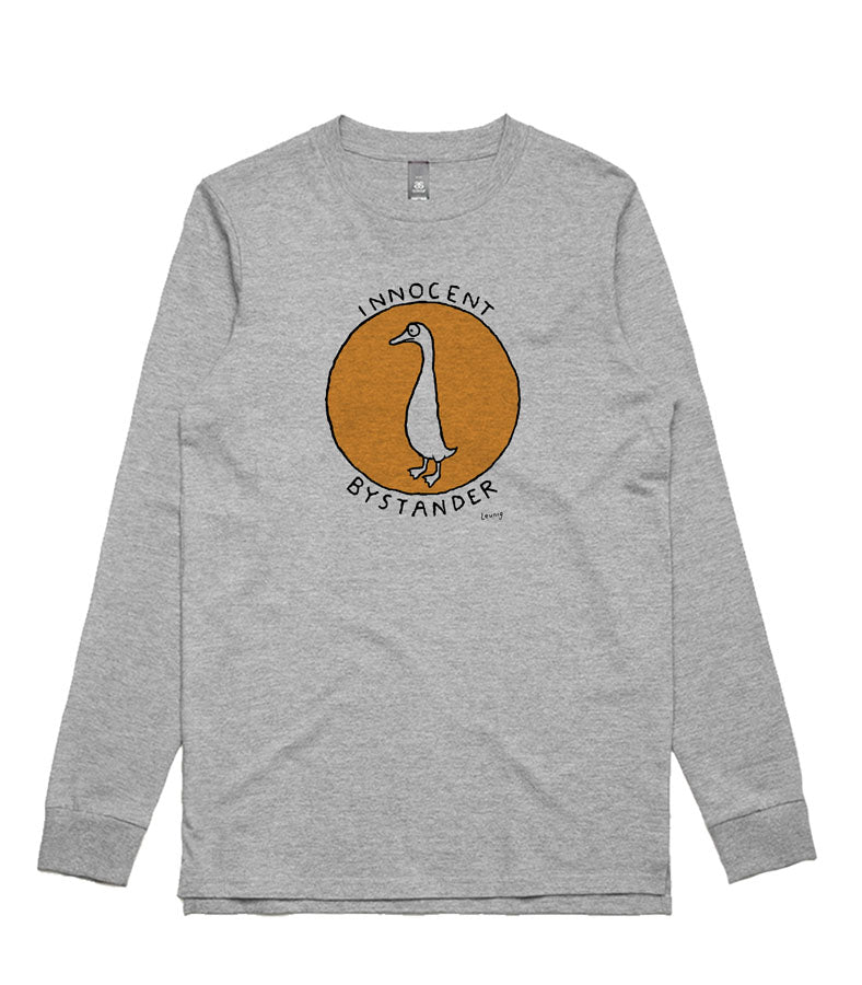 Innocent Bystander (vintage orange) - grey long sleeve