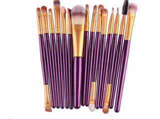 15 pcs Make Up Brushes for Basic Foundation Eyebrow Mascara Lip Makeup Set