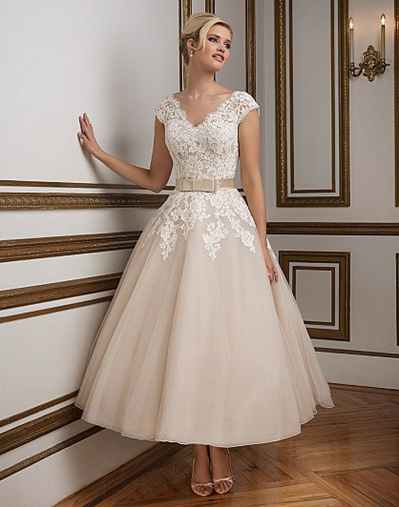 1950's Vintage Champagne Wedding/Reception Dress