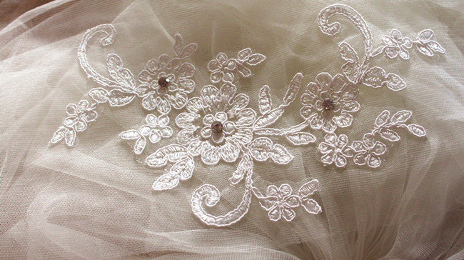 Diamond Scarf Wedding Veil