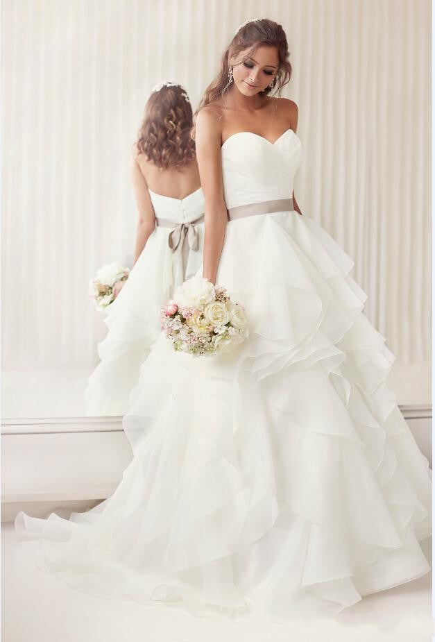 Sweetheart A Line Organza Wedding/Reception Gown