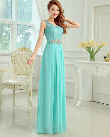 A-line Lace And Chiffon Bridesmaid Dress
