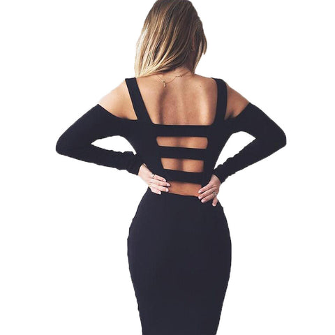 Long Sleeve Bandage Party Dress