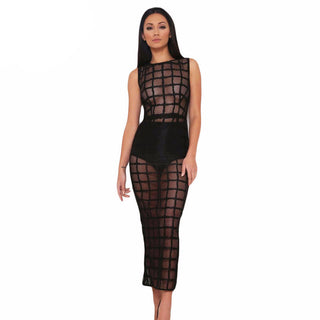2 Piece See-Through Dress w/ Thong