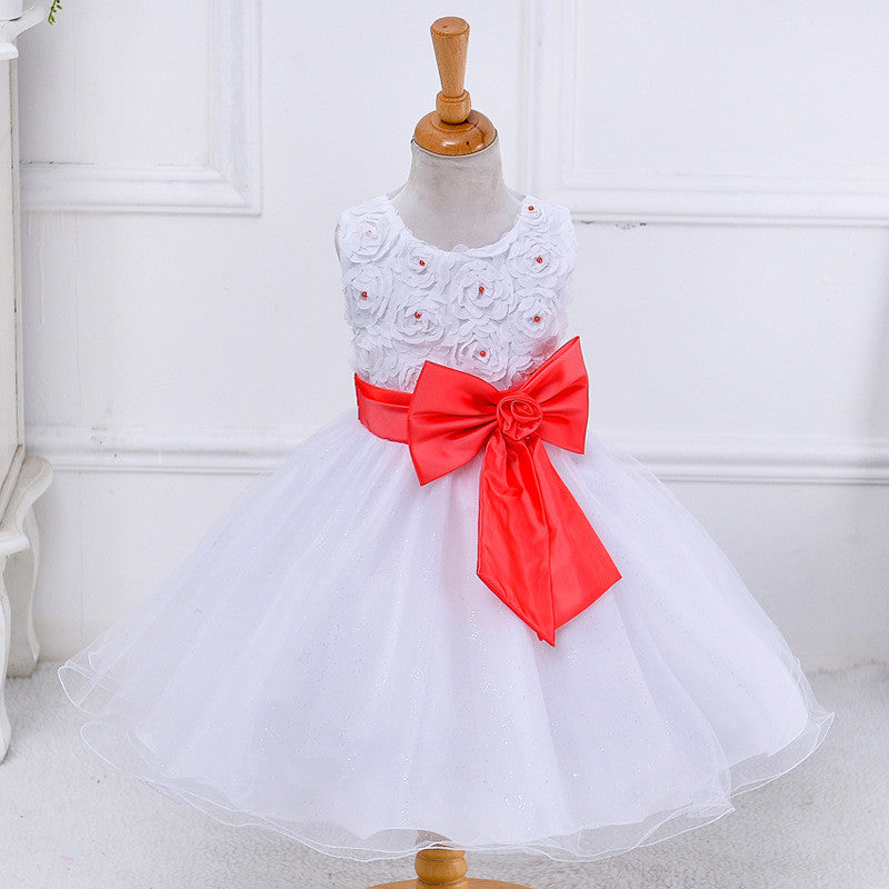 Flower Girls Dress Watermelon Bow