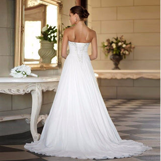 New Hot Selling Custom Made Wedding Dress w/ Sweetheart Chiffon
