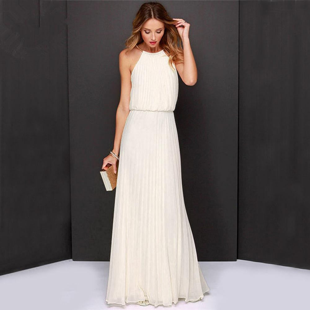 Floor-length Backless Summer Dress
