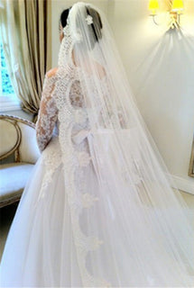 3 Meter Vintage Style Lace Cathedral Wedding Veil