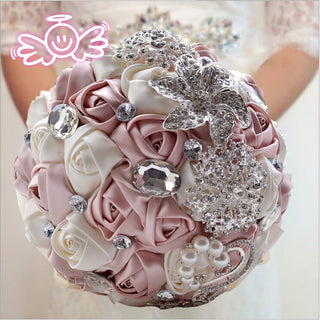 Sparkling Crystal Beaded Wedding Flowers Bouquet