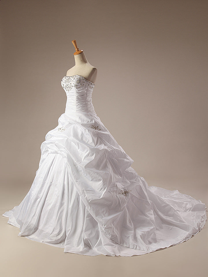 Ivory Wedding Dress w/Ruffles