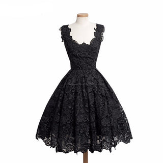 Elegant Lace Patchwork Party Dress